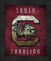 South Carolina Retro Logo Map
