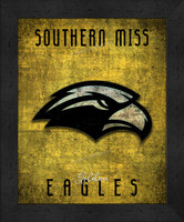 Southern Mississippi Retro Logo Map