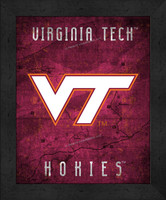 Virginia Tech Retro Logo Map