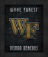 Wake Forest Retro Logo Map