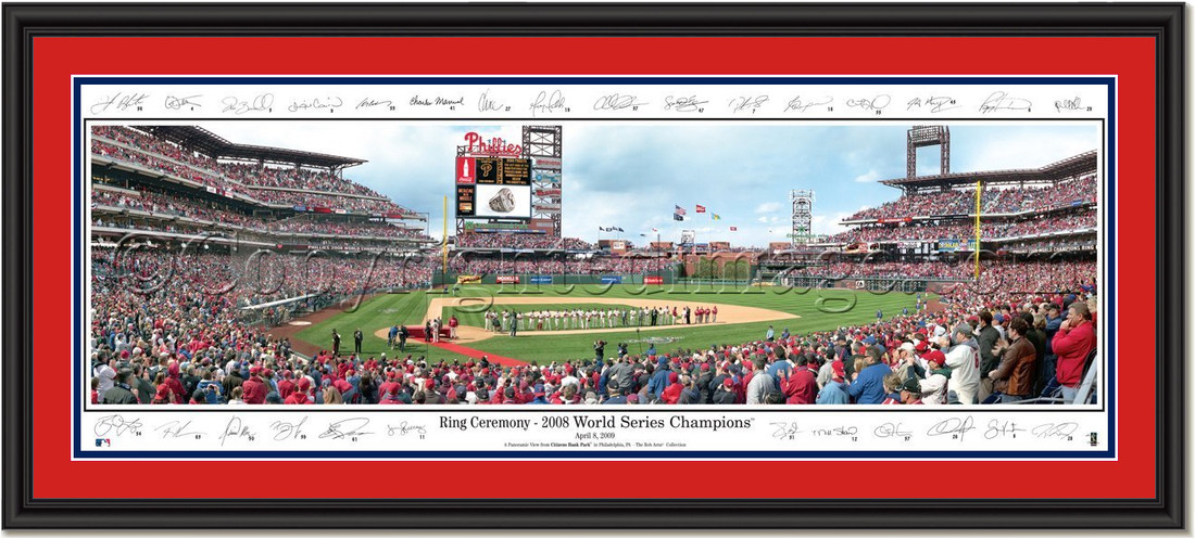 Philadelphia Phillies Ring Ceremony - Signature Edition Double Matting Black Frame