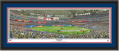 Toronto Bluejays Opening Day Framed Print Double Mat and Black Frame