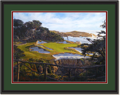 The 15th at Cypress Point Framed Print