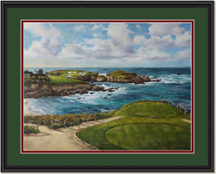 16th at Cypress Point Framed Print