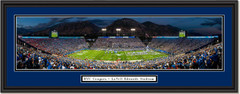 Brigham Young Cougars Football LaVell Edwards Stadium Framed Print Double Mat and Black Frame