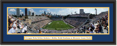 Georgia Tech Yellow Jackets Football Bobby Dodd Stadium at Grant Field Framed Print Double Mat and Black Frame