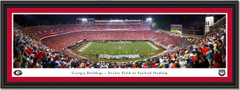 Georgia Bulldogs Football Sanford Stadium Framed Panoramic Print