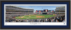First Pitch at Yankee Stadium Framed Panoramic Print