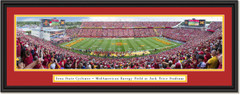 Iowa State Cyclones Football Jack Trice Stadium Framed Panoramic Print Double Matting and Black Frame