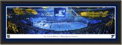 St. Louis Blues Enterprise Center - Banner Raising - Framed Panoramic Print