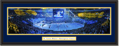 St. Louis Blues Enterprise Center - Banner Raising - Framed Panoramic Print