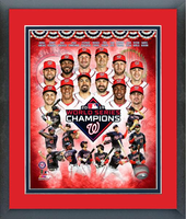 2019 World Series Champs Washington Nationals Framed  Composite Print
