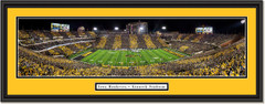 Iowa Hawkeyes Football Kinnick Stadium -- at Night -- Framed Print