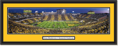 Iowa Hawkeyes Football Kinnick Stadium -- at Sunset -- Framed Print