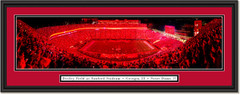Georgia Bulldogs -- Red Lights -- At Sanford Stadium Framed Print