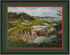 Afternoon on the 15th at Cypress Point Framed Print