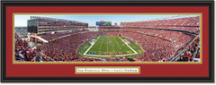 San Francisco 49ers End Zone at Levi's Stadium - 2019 Season - Framed Print
