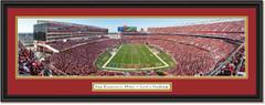 San Francisco 49ers End Zone at Levi's Stadium - 2019 Season - Framed Print