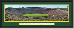2020 Rose Bowl -- KICKOFF -- Oregon Ducks vs. Wisconsin Badgers Framed Print
