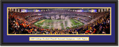 2020 National Champs -- CELEBRATION -- LSU Tigers Framed Print