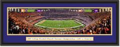 2019 National Championship -- Kickoff -- LSU vs Clemson Framed Print