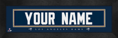 Los Angeles Rams Personalized Jersey Nameplate Framed Print