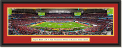 2020 Super Bowl -- KICK OFF -- Kansas City Chiefs and San Francisco 49ers Framed Print