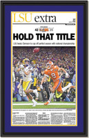 LSU National Champs - Hold That Title - Framed Print