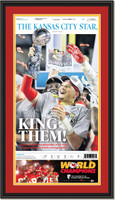 2020 Kansas City Chiefs Super Bowl Front Page Framed Print