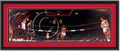 Michael Jordan at the Line in Chicago Stadium Framed Panoramic
