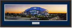 AT&T Stadium - Home of the Dallas Cowboys - at Twilight Framed Panoramic