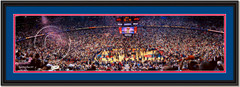 Detroit Pistons 2004 NBA Champions Celebrate Framed Panoramic
