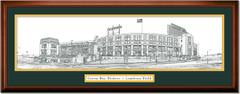 Green Bay Packers Lambeau Field Illustrated Framed Print