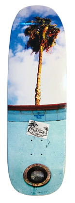 Blue Haven Pools homage deck by PoolFiend Skateboard Supplies  Size 9.8 inches wide by 32.,5 inches long with a 14.75 inches wheel base.