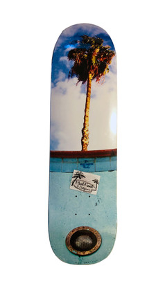 Blue Haven Pools homage deck by PoolFiend Skateboard Supplies  Size 8.625 inches wide by 32 inches long with a 14.5 inches wheel base.