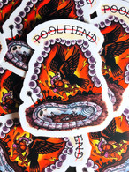 "PoolFiend Vulture Eye Die cut sticker   Size: 2.41"" x 3"""