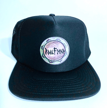 PoolFiend Death Box Mesh Hat by Otto Collection  Model 132-1037 One size fits most  100% Plyester  100% Nylon