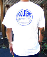 "PoolFiend ""The Badge""  White T-Shirt"