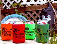 """PoolFiend of California Koozies - assorted colors - """"Drink Beers...Sk8 Pools"""""""