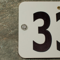 Re-stocked! Pave Number Magnets