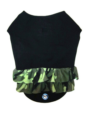 Black with Camo Ruffle