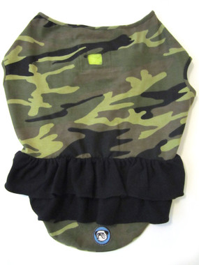 Camo with Black Ruffle