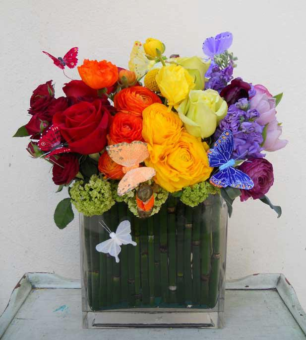 Ombre Flower Designs Or Rainbow Flowers A Trend With Staying Power