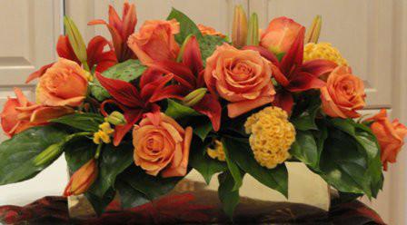 Rectangle Brass Design - Flowers Online Highland Park IL - Jan Channon Flowers