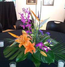 Table Designs Brazilian Wedding Reception The Art Center Highland Park Wedding Flowers Lake Forest IL - Jan Channon Flowers