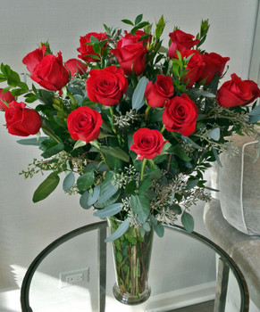 Long-stemmed Red Roses--Deerfield and Highland Park Illinois