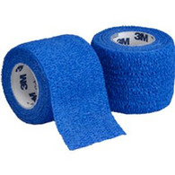 "Coban Non-Sterile Self-Adherent Wrap 2"" x 5 yds., Blue Roll 1 (881582B)"
