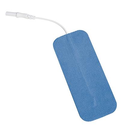 "Rectangle Silver with Reusable Blue Gel Electrode 2"" x 4"" PK 4"