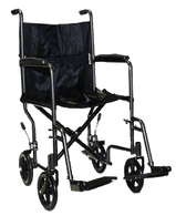 Transport Chair with Swing Away Foot Rest, Steel EA 1