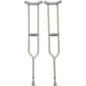 "Adult Push Button Crutches, 62"" - 70"" Height Adjustment, 300 lb. PR 2"